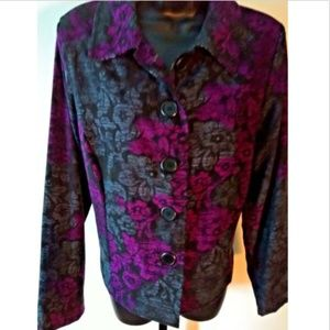 Kim Rogers Floral Button Up Jacket